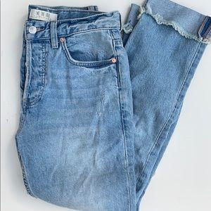 FREEPEOPLE light denim washed boyfriend jeans